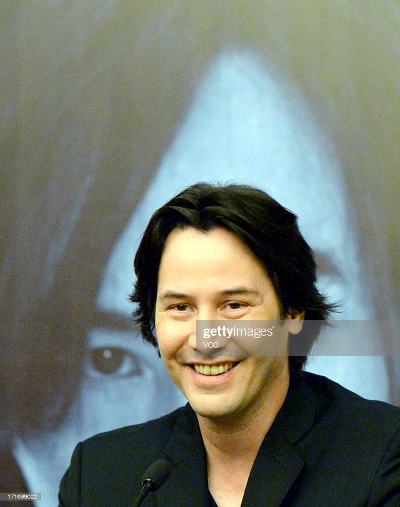 Actor Keanu Reeves attends 'Man of Tai Chi' press conference at CGV cinema on June 28, 2013 in Wuhan, China.