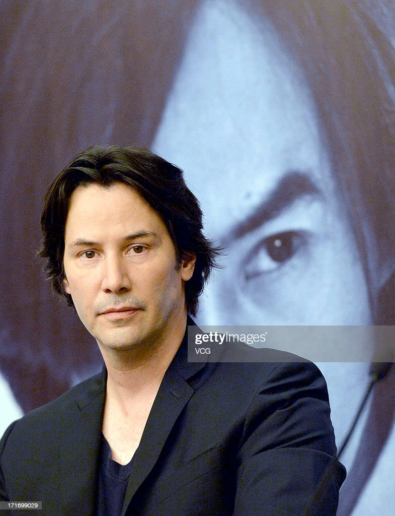 Actor <a gi-track='captionPersonalityLinkClicked' href=/galleries/search?phrase=Keanu+Reeves&family=editorial&specificpeople=171568 ng-click='$event.stopPropagation()'>Keanu Reeves</a> attends 'Man of Tai Chi' press conference at CGV cinema on June 28, 2013 in Wuhan, China.