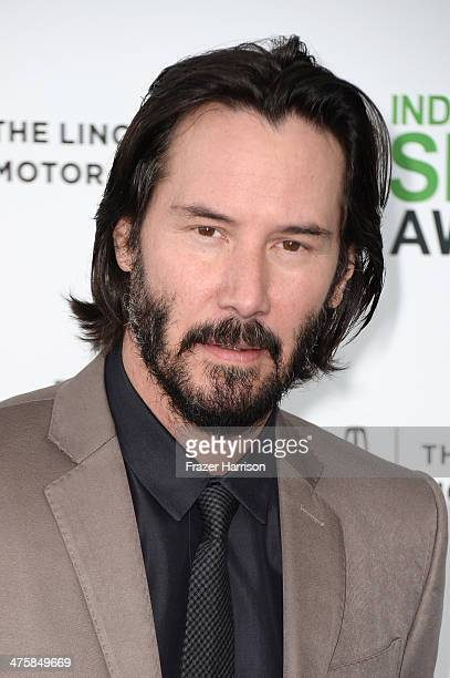 Actor Keanu Reeves attends the 2014 Film Independent Spirit Awards at Santa Monica Beach on March 1 2014 in Santa Monica California