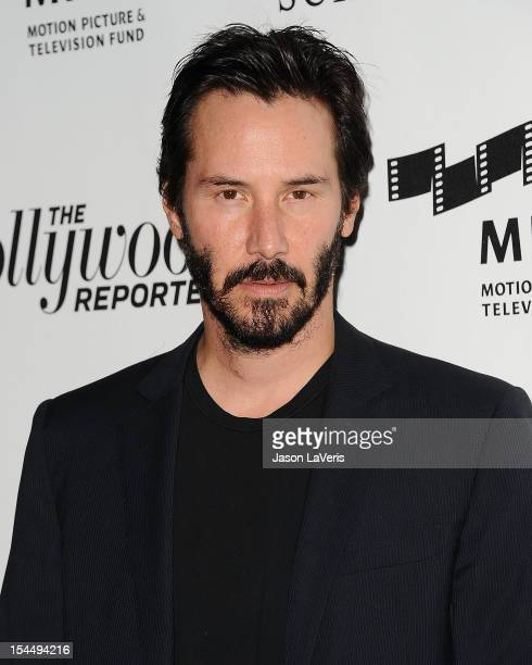 Actor Keanu Reeves attends the 2nd annual Reel Stories Real Lives benefiting the Motion Picture Television Fund at Milk Studios on October 20 2012 in...