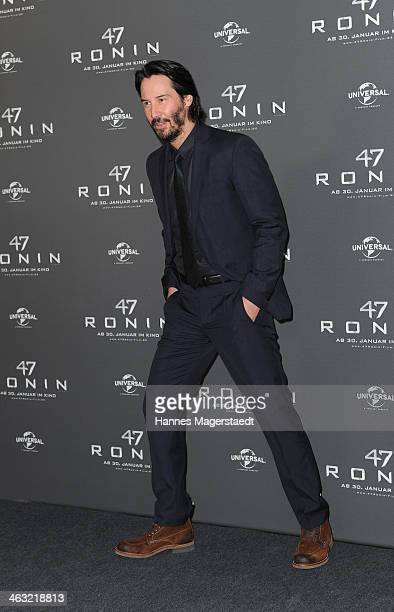 Actor Keanu Reeves attends the '47 Ronin' Photocall at Hotel Bayerischer Hof on January 17 2014 in Munich Germany