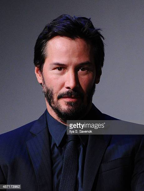 Actor Keanu Reeves attends the Apple Store Soho Presents Meet The Actors Keanu Reeves Alfie Allen Chad Stahelski David Leitch And Basil Iwanyk'John...