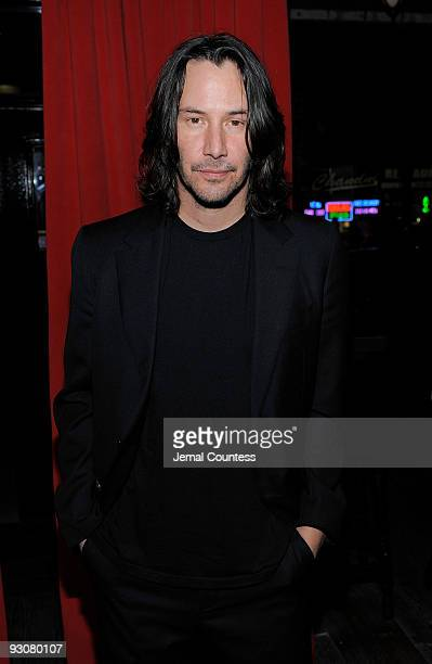 Actor Keanu Reeves attends the Cinema Society and A Diamond is Forever after party screening of 'The Private Lives Of Pippa Lee' at Ace Hotel on...