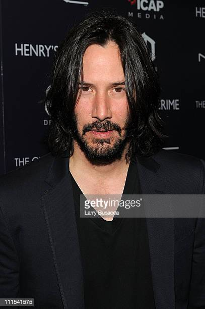 Actor Keanu Reeves attends the Cinema Society with DeLeon Tequila and Moving Pictures Film Television screening Of 'Henry's Crime' at Landmark's...