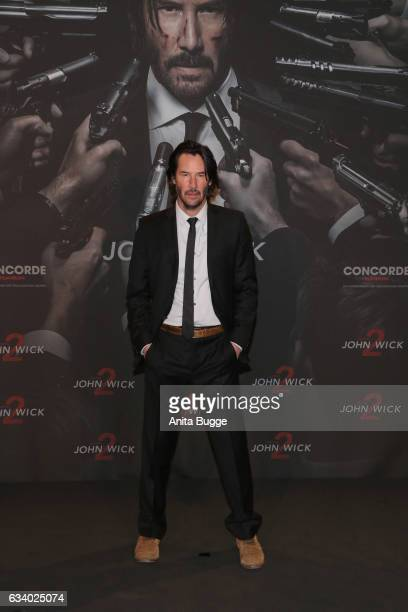 Actor Keanu Reeves attends the 'John Wick Kapitel 2' Berlin photocall at Hotel De Rome on February 6 2017 in Berlin Germany