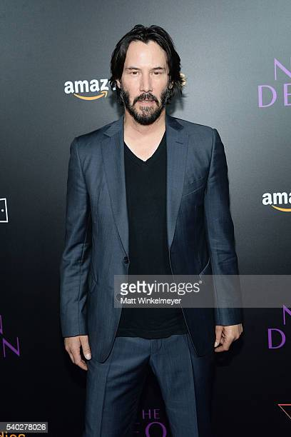 Actor Keanu Reeves attends the premiere of Amazon's 'The Neon Demon' at ArcLight Cinemas Cinerama Dome on June 14 2016 in Hollywood California