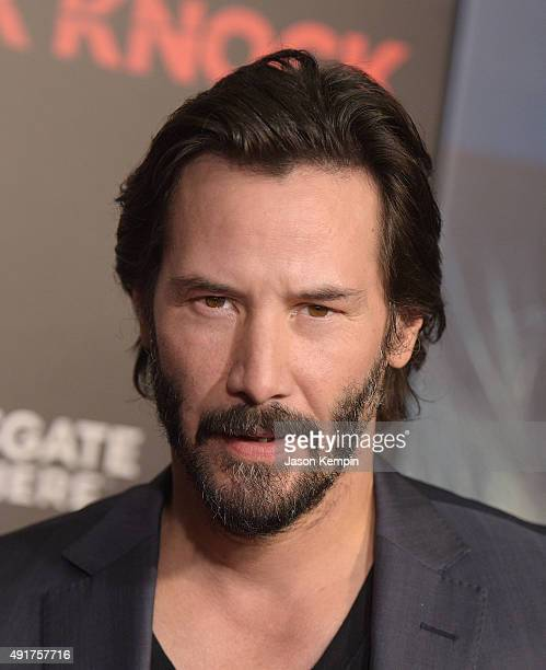 Actor Keanu Reeves attends the premiere of 'Knock Knock' at TCL Chinese Theatre on October 7 2015 in Hollywood California