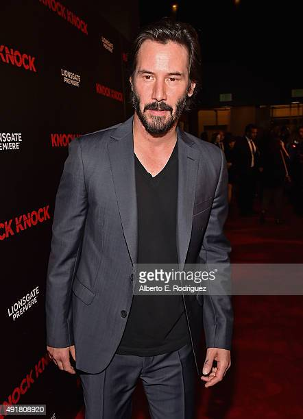 Actor Keanu Reeves attends the premiere of Lionsgate's 'Knock Knock' at TCL Chinese 6 Theatres on October 7 2015 in Hollywood California