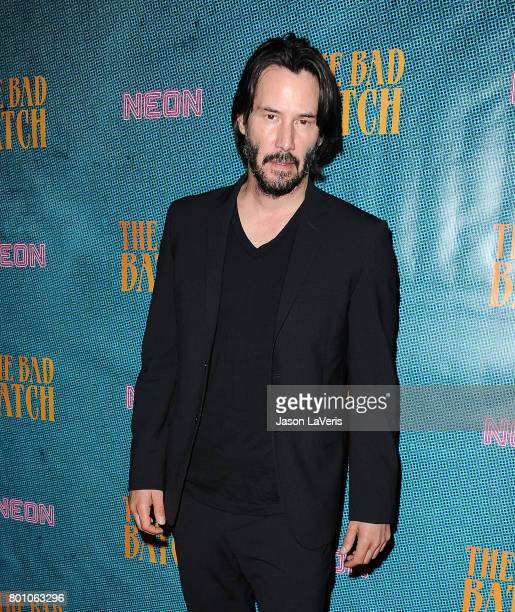Actor Keanu Reeves attends the premiere of 'The Bad Batch' at Resident on June 19 2017 in Los Angeles California