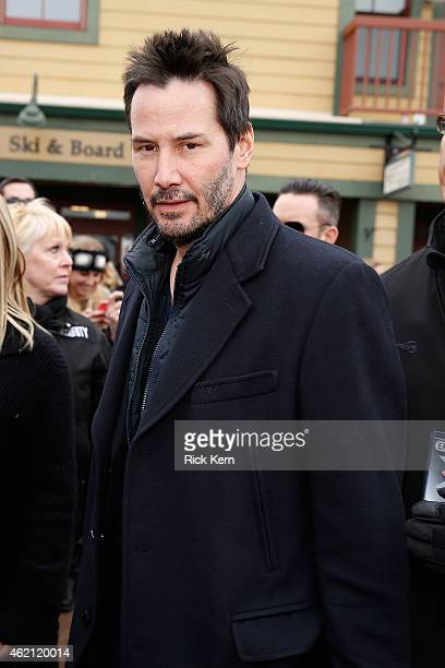Actor Keanu Reeves attends the Stella Artois Cafe at The Village at The Lift 2015 on January 24 2015 in Park City Utah