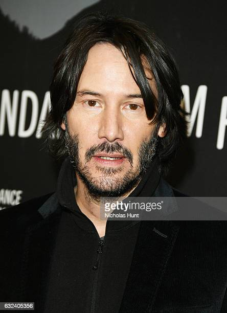 Actor Keanu Reeves attends the 'To The Bone' Premiere on day 4 of the 2017 Sundance Film Festival at Eccles Center Theatre on January 22 2017 in Park...