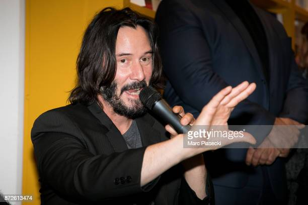 Actor Keanu Reeves attends the 'X Artists' books launch at Palais De Tokyo on November 10 2017 in Paris France