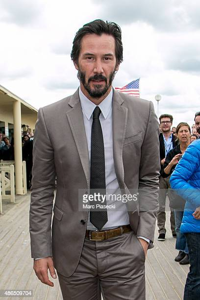 Actor Keanu Reeves is seen during the 41st Deauville American Film Festival on September 4 2015 in Deauville France