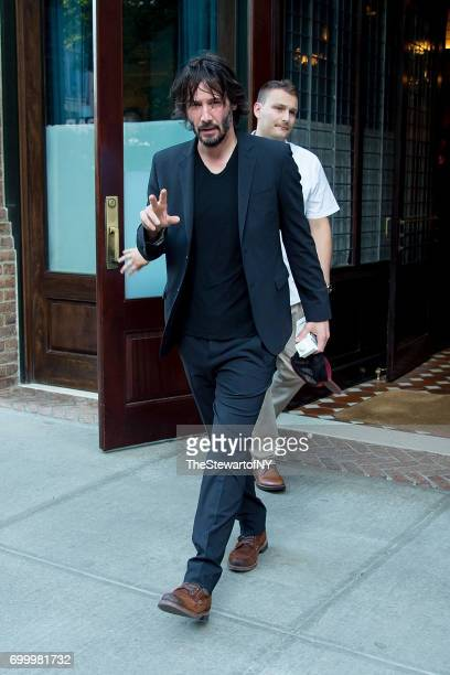 Actor Keanu Reeves is seen in Tribeca on June 22 2017 in New York City
