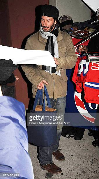 Actor Keanu Reeves is seen on December 18 2013 in New York City