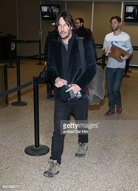 Actor Keanu Reeves is seen on January 22 2017 in Salt Lake City Utah