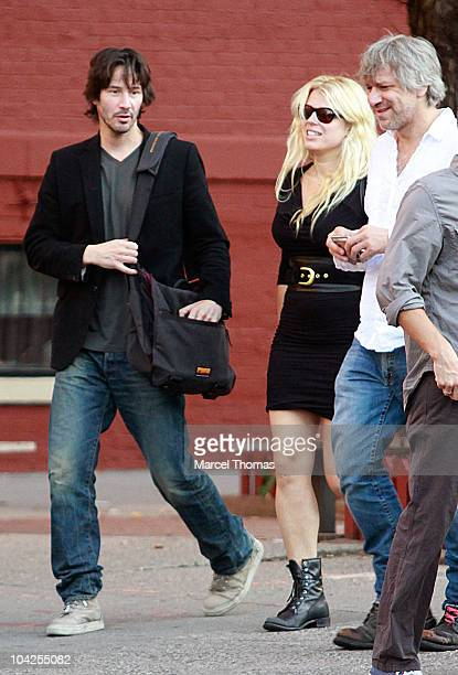 Actor Keanu Reeves is seen on the Streets of Manhattan on September 18 2010 in New York City