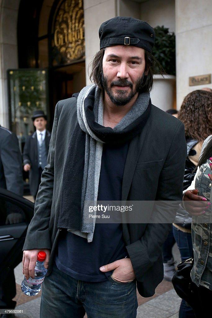Actor <a gi-track='captionPersonalityLinkClicked' href=/galleries/search?phrase=Keanu+Reeves&family=editorial&specificpeople=171568 ng-click='$event.stopPropagation()'>Keanu Reeves</a> leaves his hotel on March 19, 2014 in Paris, France.