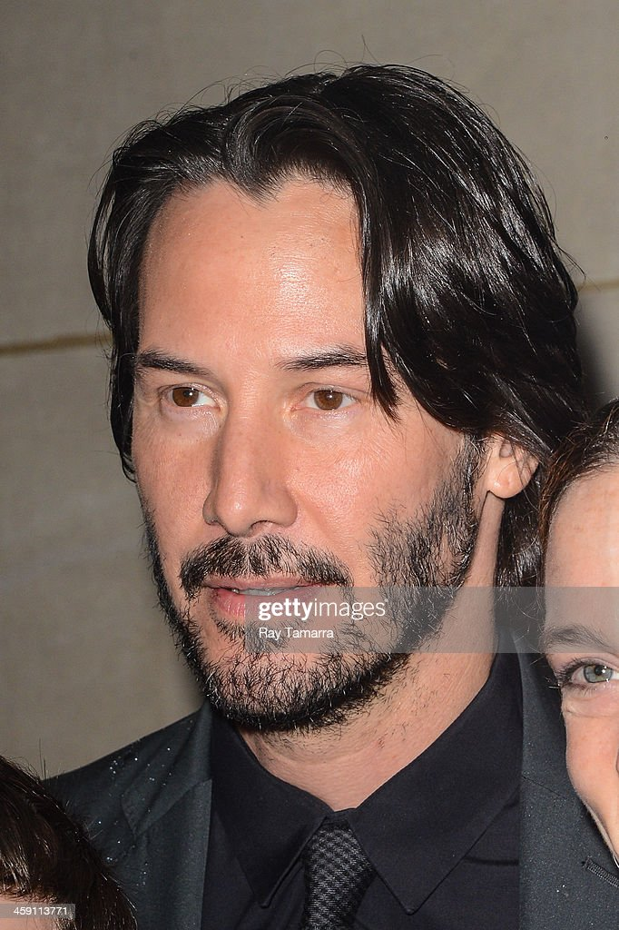 Actor Keanu Reeves leaves the 'Today Show' taping at the NBC Rockefeller Center Studios on December 23, 2013 in New York City.