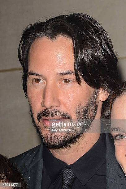 Actor Keanu Reeves leaves the 'Today Show' taping at the NBC Rockefeller Center Studios on December 23 2013 in New York City