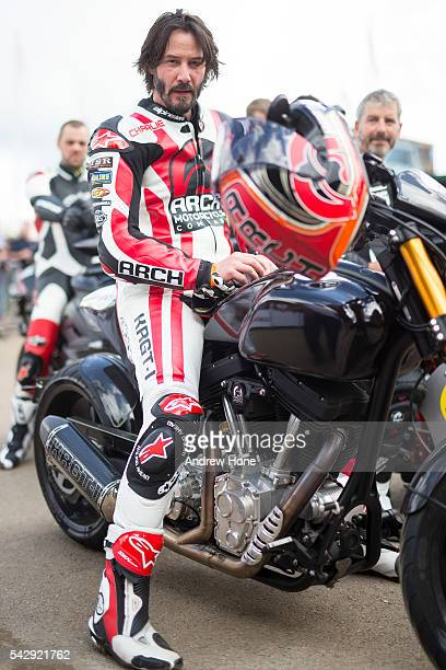 Actor Keanu Reeves takes part at the Goodwood Festival of Speed at Goodwood on June 25 2016 in Chichester England