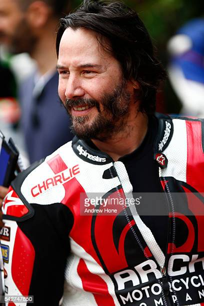 Actor Keanu Reeves takes part at the Goodwood Festival of Speed on June 24 2016 in Chichester England