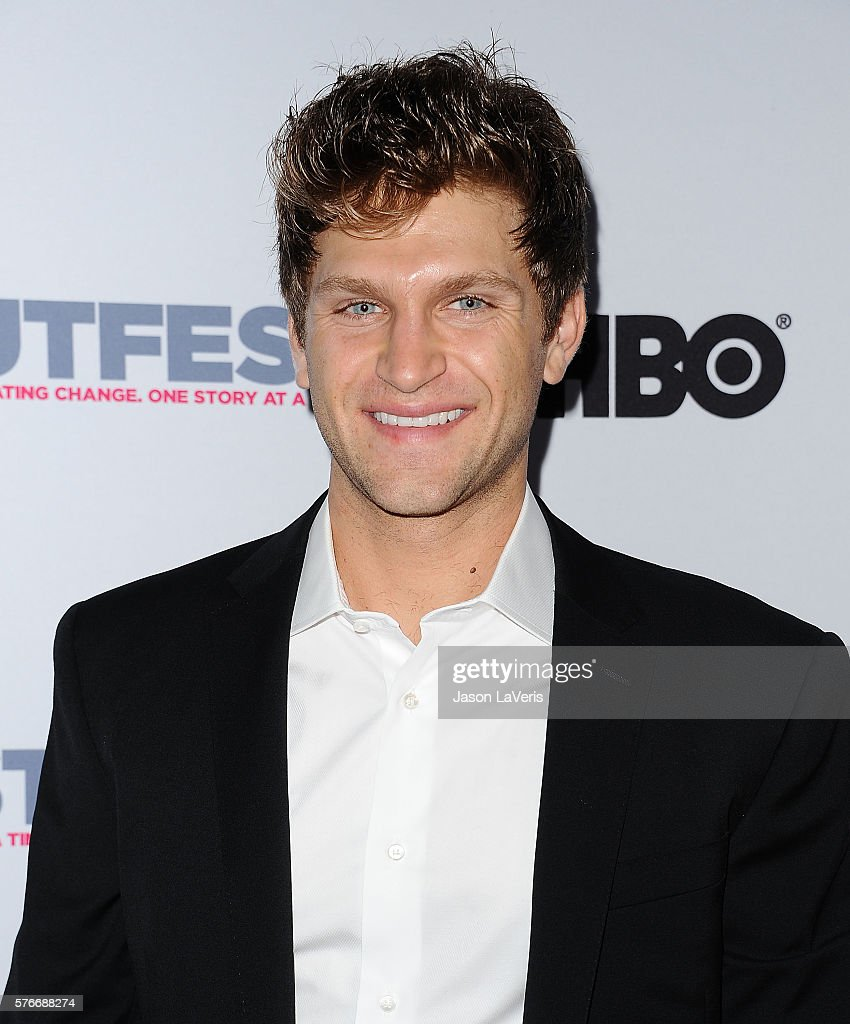 Actor Keegan Allen attends a screening of 'King Cobra' and the presentation of the James Schamus Ally Award at the 2016 Outfest at Director's Guild...