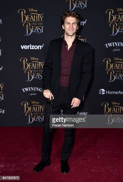 Actor Keegan Allen attends Disney's 'Beauty and the Beast' premiere at El Capitan Theatre on March 2 2017 in Los Angeles California