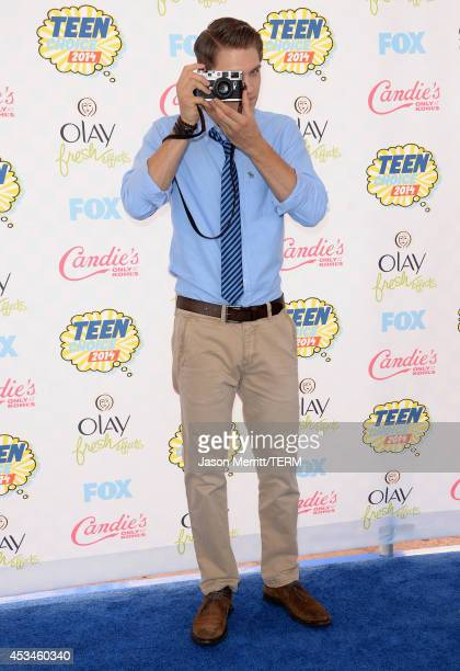 Actor Keegan Allen attends FOX's 2014 Teen Choice Awards at The Shrine Auditorium on August 10 2014 in Los Angeles California