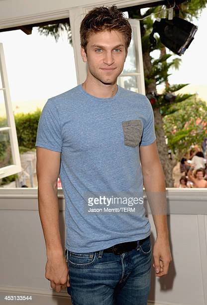 Actor Keegan Allen attends the Hollister House on August 3 2014 in Santa Monica California