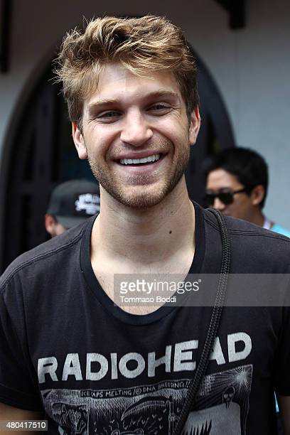 Actor Keegan Allen is seen on July 9 2015 in San Diego California