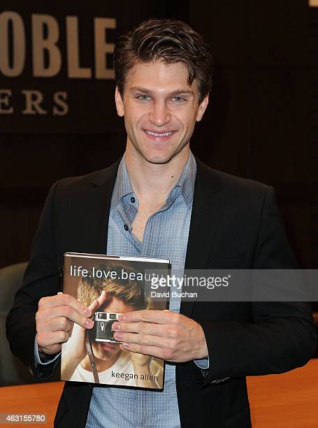 Actor Keegan Allen signs copies of his book 'lifelovebeauty' at Barnes Noble bookstore at The Grove on February 10 2015 in Los Angeles California
