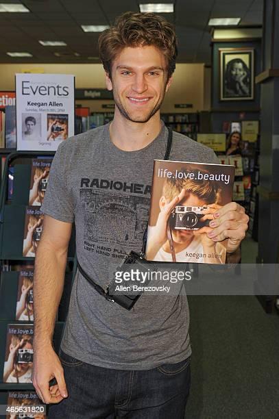 Actor Keegan Allen signs his book 'lifelovebeauty' at Barnes Noble on March 8 2015 in Huntington Beach California