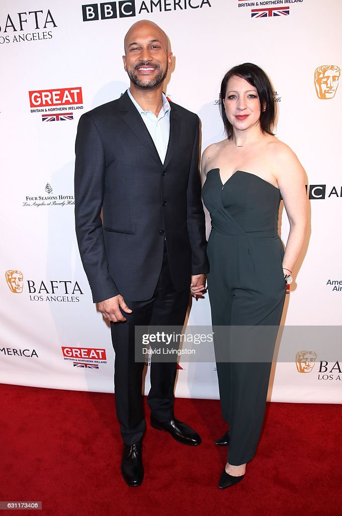 Actor Keegan-Michael Key (L) and Elisa Pugliese attend The BAFTA Tea Party at Four Seasons Hotel Los Angeles at Beverly Hills on January 7, 2017 in Los Angeles, California.