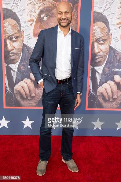 Actor KeeganMichael Key attends the premiere of HBO's 'All The Way' at Paramount Studios on May 10 2016 in Hollywood California