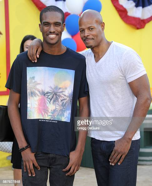 Actor Keenen Ivory Wayans and Keenen Wayans Jr arrive at the premiere of Sony's 'Sausage Party' at Regency Village Theatre on August 9 2016 in...