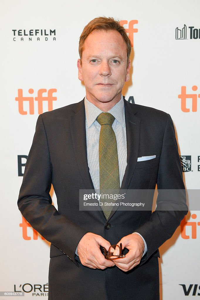<Actor Keifer Sutherland attends the 'Terry Kath Experience' premiere during the 2016 Toronto International Film Festival at Winter Garden Theatre on September 15, 2016 in Toronto, Canada.