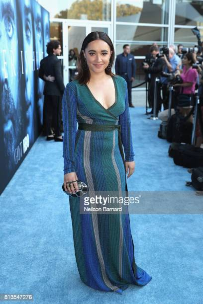 Actor Keisha CastleHughes attends the premiere of HBO's 'Game Of Thrones' season 7 at Walt Disney Concert Hall on July 12 2017 in Los Angeles...