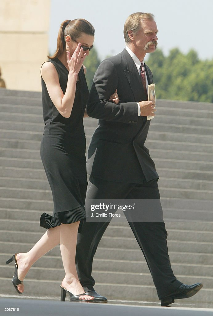 Actor Keith Carradine leaves the Mass Memorial for actor Gregory Peck June 16, 2003 in Los Angeles, California. The public memorial mass was held a the Our Lady of Angels Cathedral in Downtown Los Angeles.