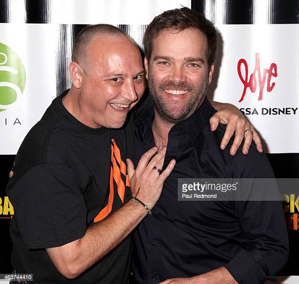 Actor Keith Coogan and Andre Gower attend 'The Comeback Kids' Los Angeles Special Screening at Landmark Theatre on February 17 2015 in Los Angeles...