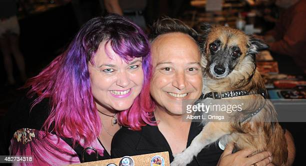 Actor Keith Coogan and wife Pinky Coogan on day 1 of The Hollywood Show held at The Westin Hotel LAX on August 1 2015 in Los Angeles California