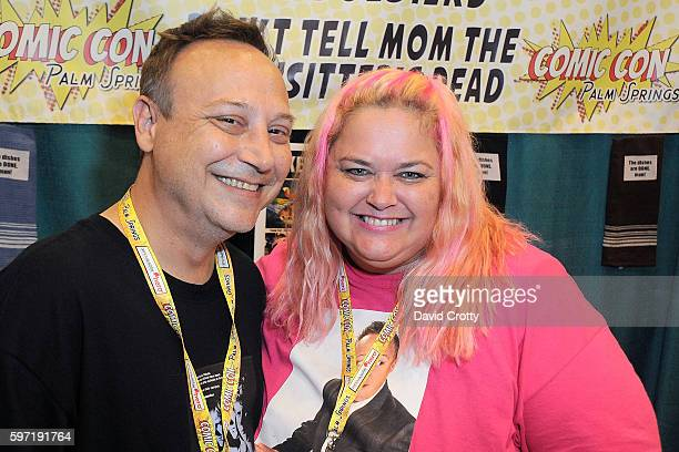 Actor Keith Coogan and wifw Pinky Coogan attend Comic Con Palm Springs 2016 at Palm Springs Convention Center on August 28 2016 in Palm Springs...