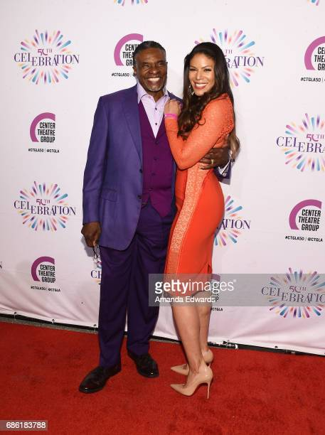 Actor Keith David and actress Merle Dandridge attend the Center Theatre Group's 50th Anniversary Celebration at the Ahmanson Theatre on May 20 2017...
