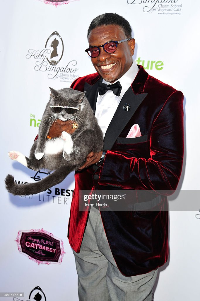 Actor Keith David attends the Kitty Bungalow Charm School for Wayward Cats presents CATbaret! on August 1, 2015 in Hollywood, California.