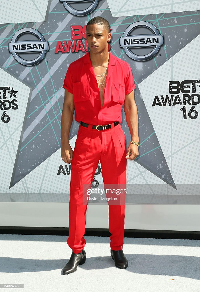 Actor Keith Powers attends the 2016 BET Awards at Microsoft Theater on June 26, 2016 in Los Angeles, California.