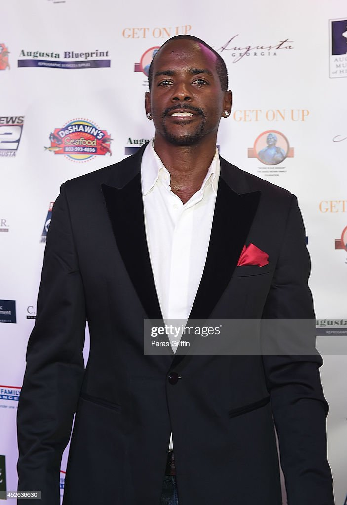 Actor Keith Robinson attends the 'Get On Up' premiere at Regal 20 Cinemas on July 24, 2014 in Augusta, Georgia.