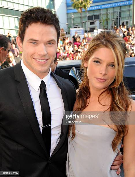 Actor Kellan Lutz and actress Ashley Greene arrive at the premiere of Summit Entertainment's 'The Twilight Saga Eclipse' during the 2010 Los Angeles...