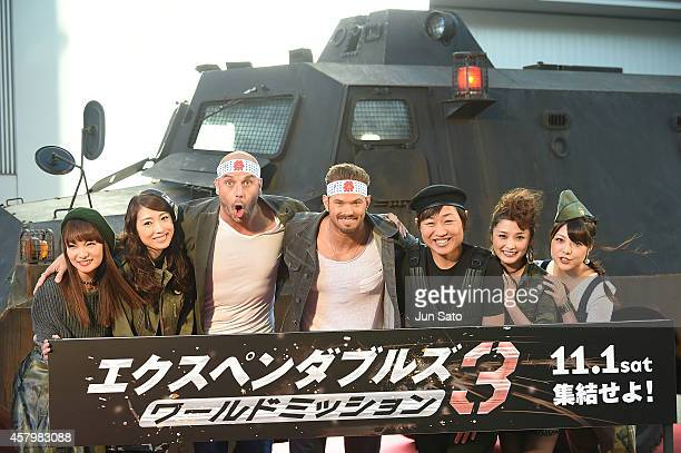 Actor Kellan Lutz and director Patrick Hughes attend 'The Expendables 3' Japan Premiere during the 27th Tokyo International Film Festival on October...