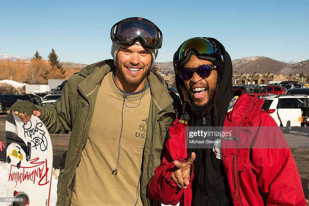 Actor <a gi-track='captionPersonalityLinkClicked' href=/galleries/search?phrase=Kellan+Lutz&family=editorial&specificpeople=683287 ng-click='$event.stopPropagation()'>Kellan Lutz</a> (L) and DJ <a gi-track='captionPersonalityLinkClicked' href=/galleries/search?phrase=Lil+Jon+-+Rapper&family=editorial&specificpeople=202659 ng-click='$event.stopPropagation()'>Lil Jon</a> attend Oakley Learn To Ride With AOL at Sundance on January 18, 2014 in Park City, Utah.