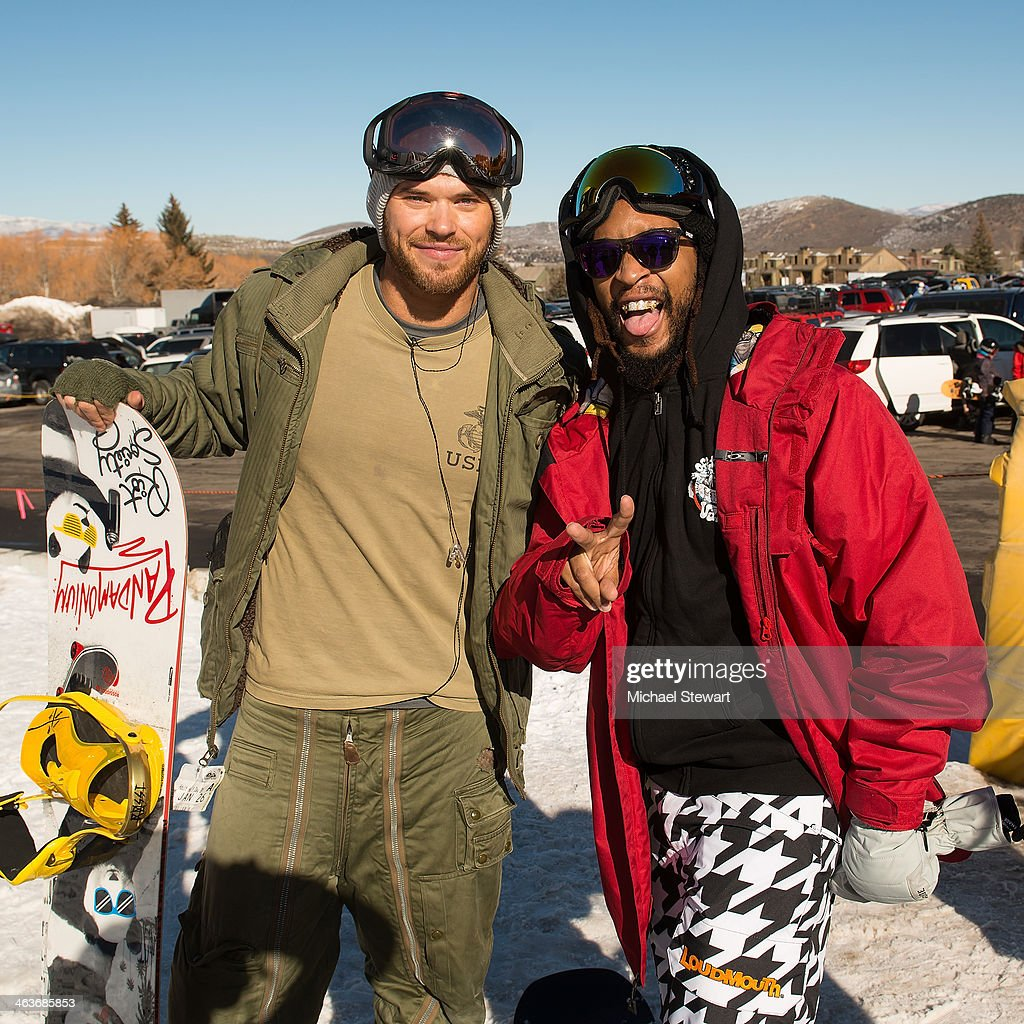 Actor Kellan Lutz (L) and DJ Lil Jon attend Oakley Learn To Ride With AOL at Sundance on January 18, 2014 in Park City, Utah.